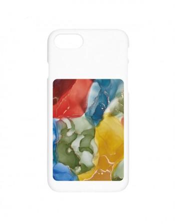 [ 포켓 단품 ] 컬러풀 대리석 카드포켓